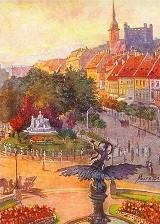 Pozsonyi egykori Kossuth tér petőfi szoborral